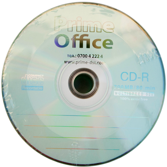 CD-R Prime Office 700MB, 80min., 100% error free