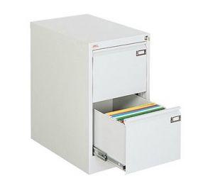 Метален шкаф за висящи папки Malow File Locker с 2 чекмеджета
