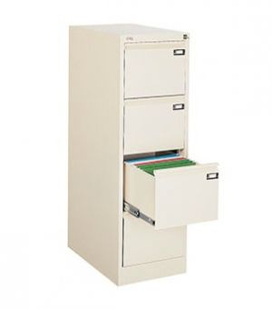 Метален шкаф за висящи папки Malow File Locker с 4 чекмеджета