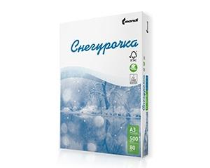 Бяла копирна хартия Снегурочка А4, 80гр., 500л.