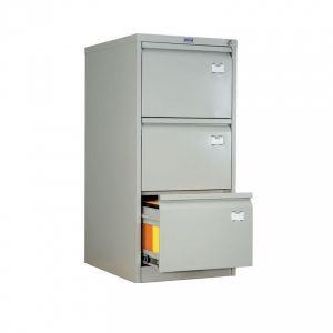 Метален шкаф за висящи папки Промет A43 с 3 чекмеджета