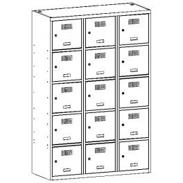 Метален гардероб Malow SUS 435W троен с 15 отделения