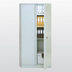 Метален шкаф Промет CB 07 с нормални врати, 3 рафта