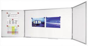 Тройна бяла магнитна дъска с алуминиева рамка Legamaster Economy 100x150 см. + 2х75 см.