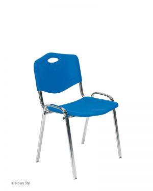 Посетителски стол Iso plastic chrome
