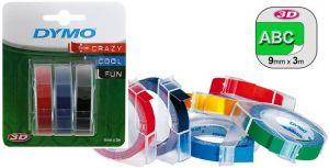 Етикети за принтер Dymo Omega 9mm x 3m, блистер 3 ролки