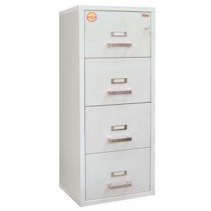 Огнеупорен метален шкаф за висящи папки FC 4K с 4 чекмеджета