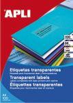 Самозалепващи етикети Apli Transparent 70x37мм,A4,20л.,24бр на лист
