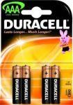 Алкални батерии Duracell Basic LR3/AAA, 4бр