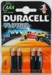 Алкални батерии Duracell Turbo LR3/AAA, 4бр