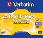 DVD+RW Verbatim 4.7GB 4X