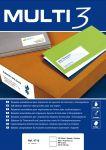 Самозалепващи етикети Multi-3 48.5x16.9мм,A4,100л,68бр на лист