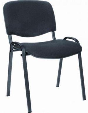 Посетителски стол ISO Black еко кожа