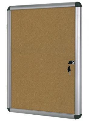 Информационно корково табло със заключване Bi-Office, 6хА4
