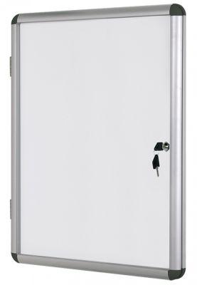 Информационно бяло магнитно табло със заключване Bi-Office, 6хА4