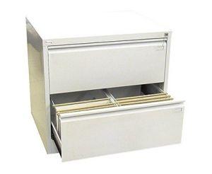 Двоен метален шкаф за висящи папки Malow File Locker с 2 чекмеджета