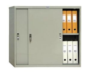 Метален шкаф Промет AMT0891 с плъзгащи врати, 1 рафт