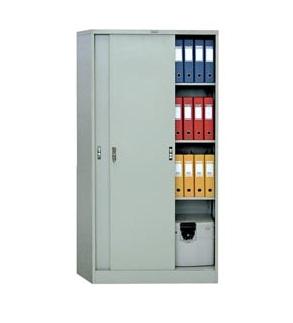 Метален шкаф Промет AMT1891 с плъзгащи врати, 3 рафта