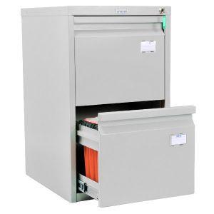 Метален шкаф за висящи папки Промет A42 с 2 чекмеджета
