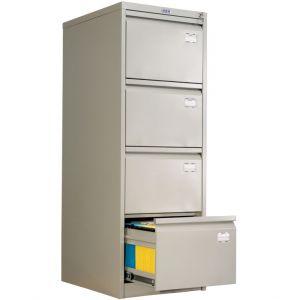 Метален шкаф за висящи папки Промет AFC-04 с 4 чекмеджета