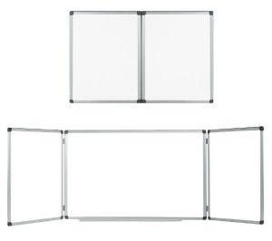 Тройна бяла дъска с алуминиева рамка 120x180 см. + 2х90 см.