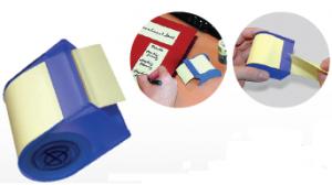 Самозалепващи листчета Info Notes ролка с диспенсър Жълт 60 mm х10 m