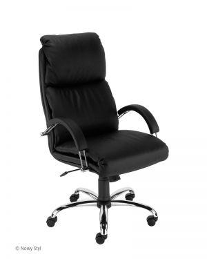 Работен стол Nadir Steel еко кожа