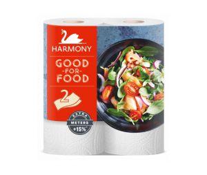 Кухненски ролки Harmony Good for Food двупл.2 бр.Бял