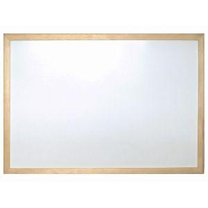 Бяла дъска Cork Nature с дървена рамка 40x60 см.