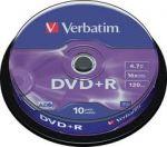 DVD+R Verbatim 4.7GB 16X, шпиндел 10бр.